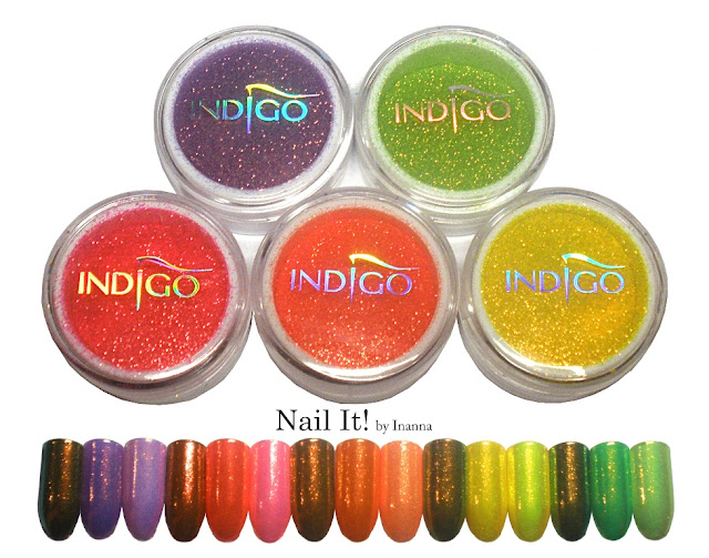 Indigo Mermaid Effect Neons (Efekt Syrenki Neons) - swatches and review of whole collection