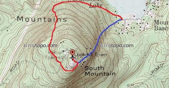 HockeyPucks hiking and highpointing: South Uncanoonuc - 1321 Ft