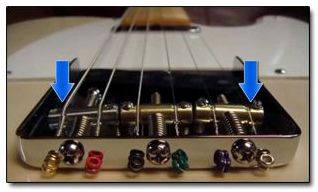 Cómo dar Curvatura a las Cuerdas en los Puentes Telecaster