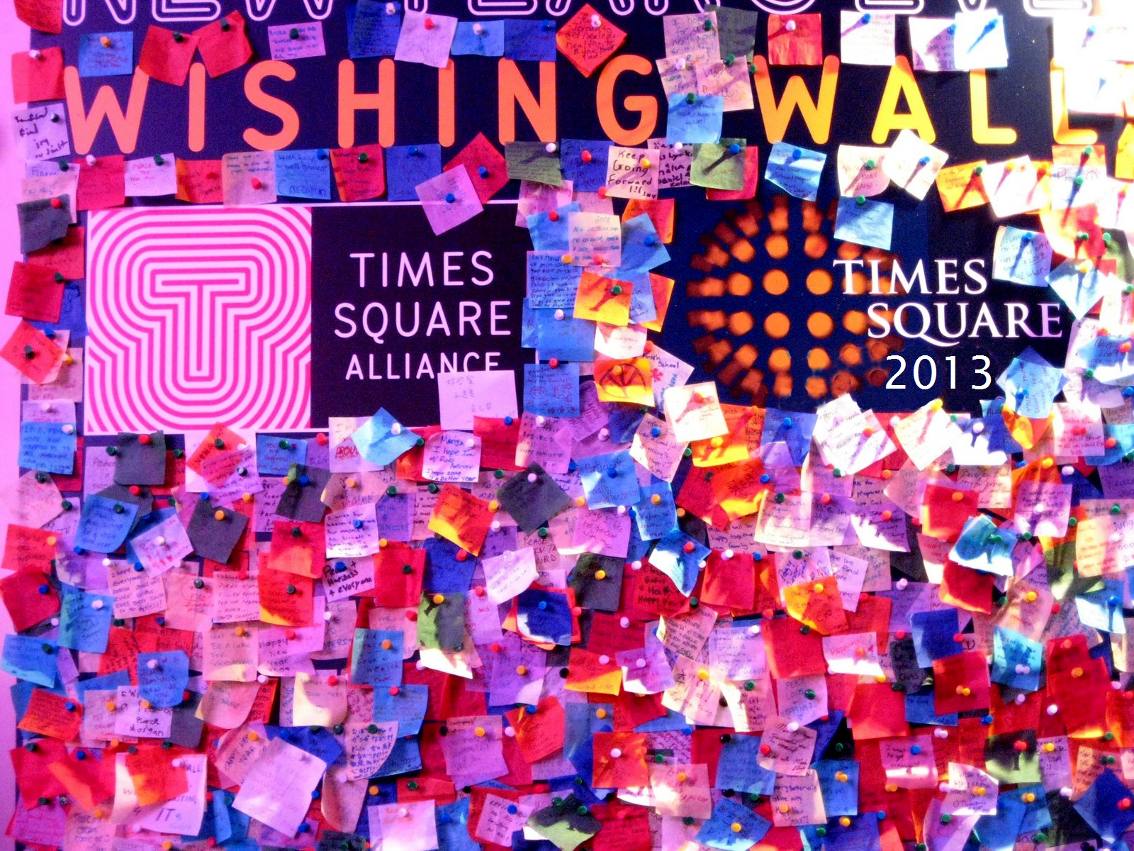 Wishing Wall New Year Times Square Confetti