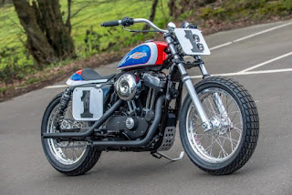 sportster mert lawwill replica flat track by shaw hd on street