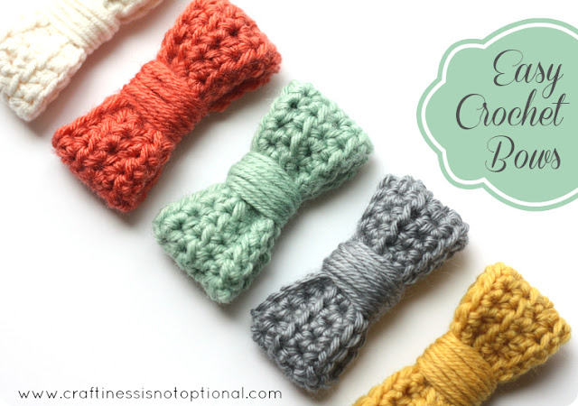 Easy Crochet Ribbon Bows | Amazing Crochet Patterns for Beginners