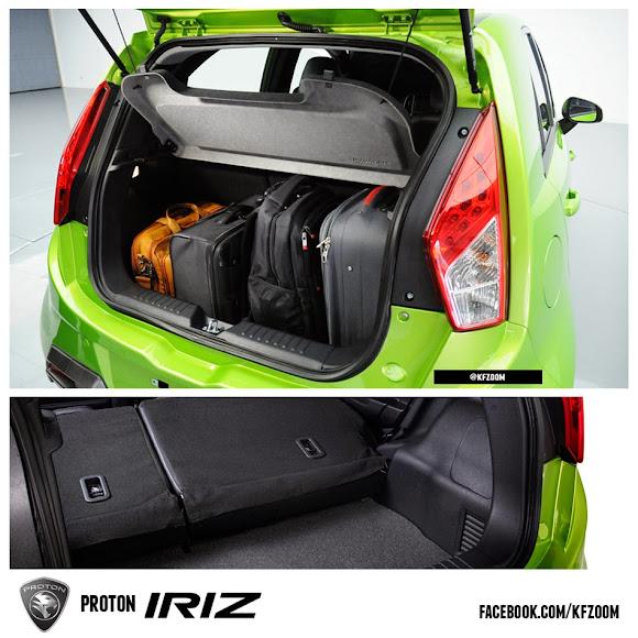 proton iriz luggage