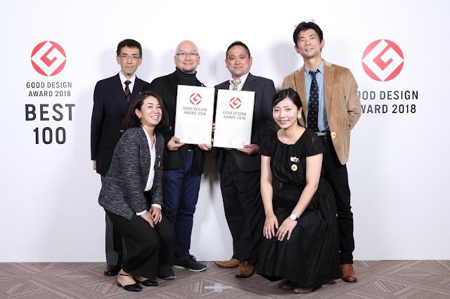 日本ボレイト グッドデザイン賞W受賞 受賞式