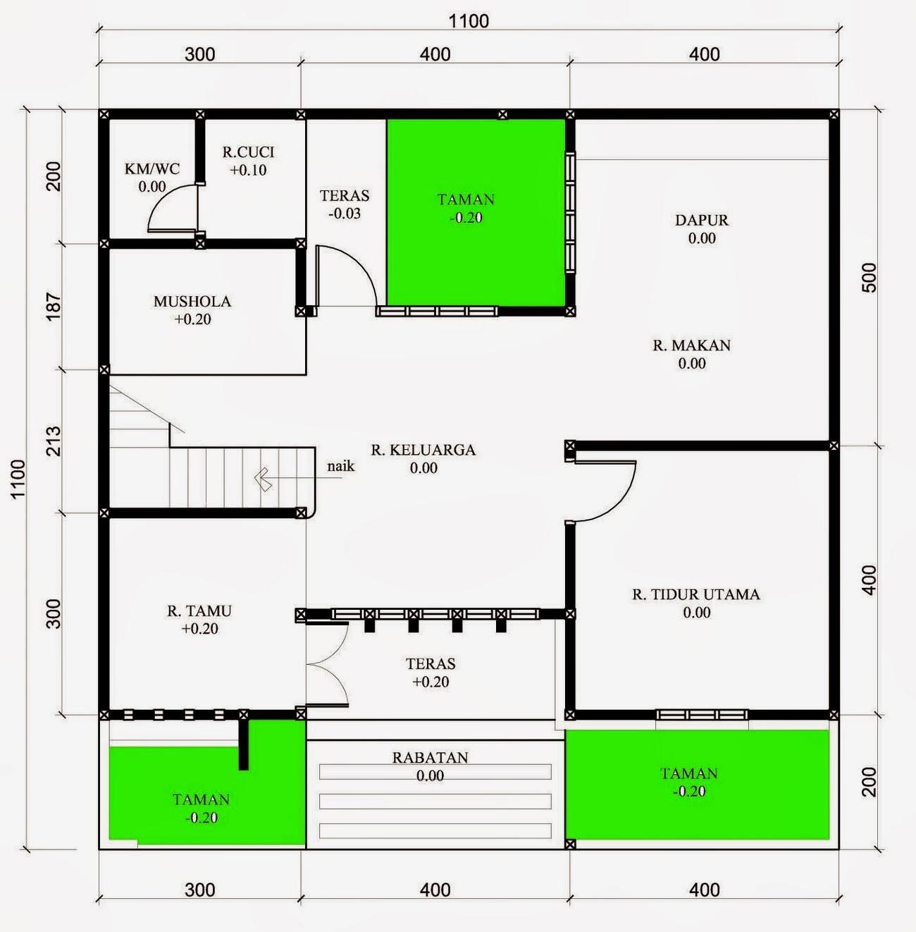 Gambar Contoh Gambar Desain Rumah Minimalis Type 60 Terbaru Denah