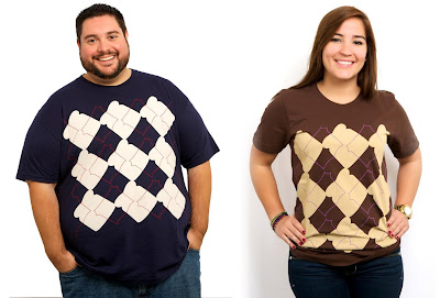 Deli Fresh Threads Inaugural T-Shirt Collection - Traditional Argyle & PB&J Argyle T-Shirts