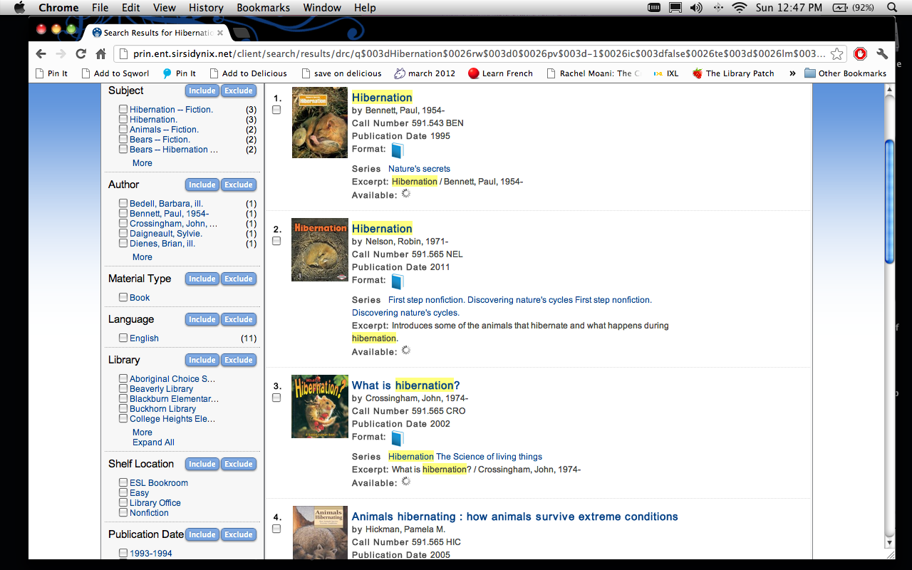 Lisa's Library Lynx: OPAC - Online Public Access Catalog