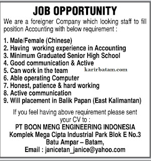 PT. Boon Meng Engineering Indonesia