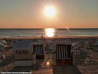 Sonne am Strand in Westerland auf Sylt