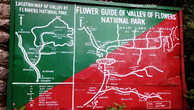 Location Map of Valley and Flowers