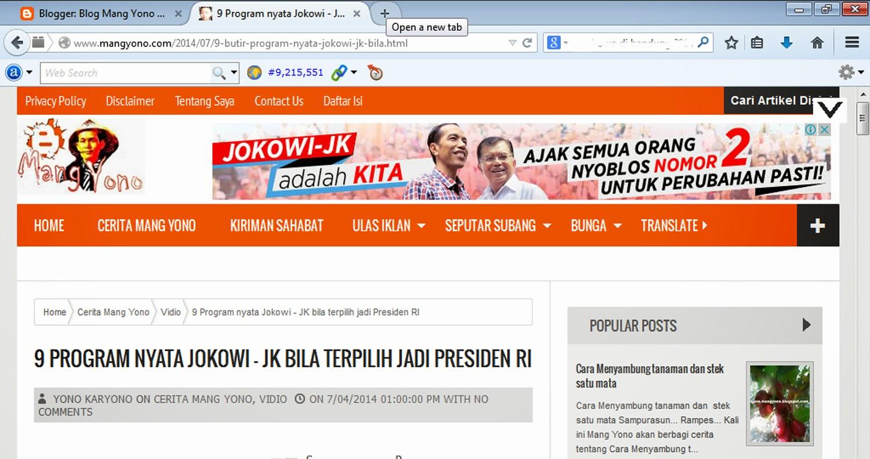 Blog Mang Yono- iklan Jokowi - JK
