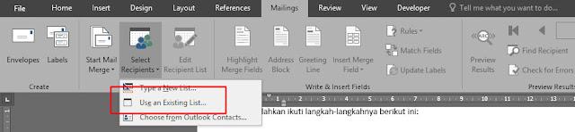 Cara Terbaru Mailing Data Dari MC Excel ke MS word