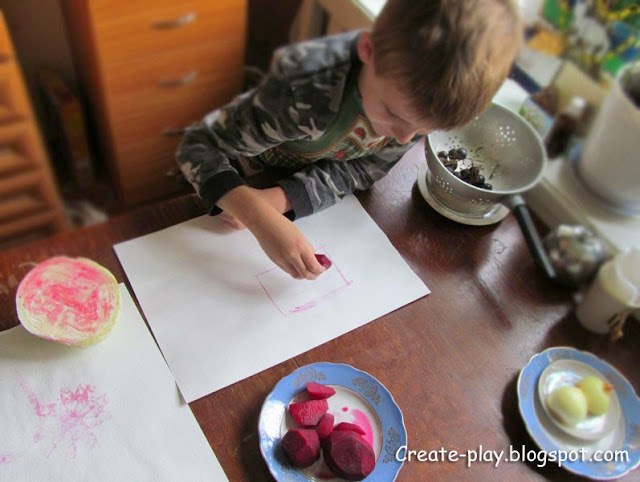 рисуем свеклой овощами