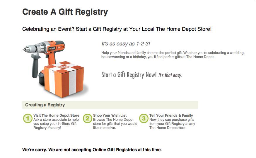 Home Depot Wedding Registry.Sweetlove Overturning The Home Improvement Store Registry Conundrum