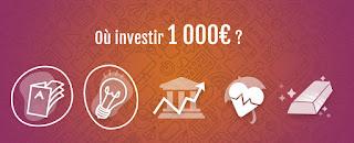 Les meilleurs placements pour 1.000 euros