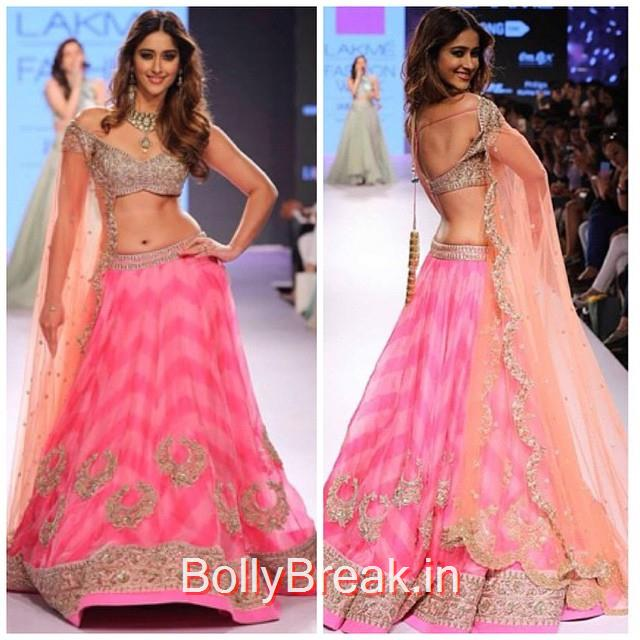 oh myyy! 💕 totally crushin on @ileana_official in this absolutely beautiful, stunning lengha by @anushreereddyofficial - her latest collection is just magical ✨ from the pastel colours, to the intricacy of the embellishment, together with the amazing designs... i'm in love 💕, ILeana DCruz in Anushree Reddy Lehenga Choli at Lakme Fashion Week