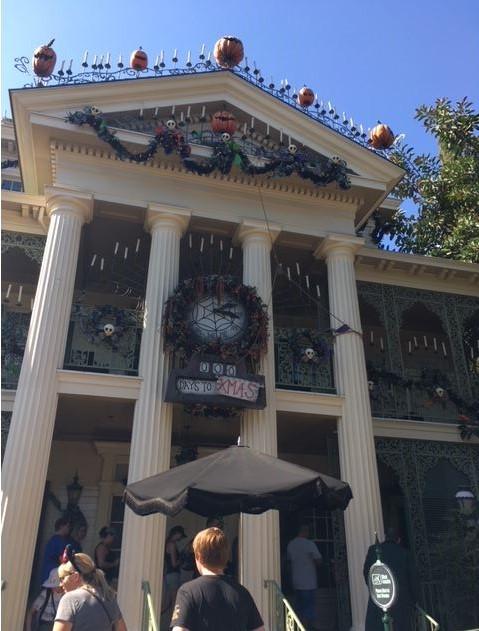 Disneyland Anaheim Haunted Mansion Halloween display