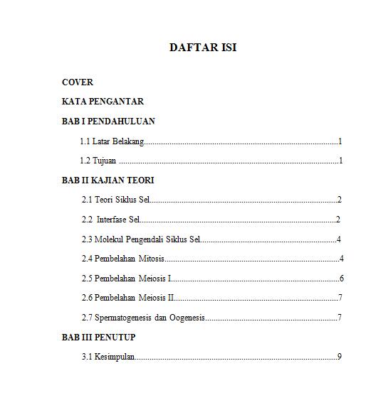 Contoh Daftar Isi Makalah Agama Materi Pelajaran 2