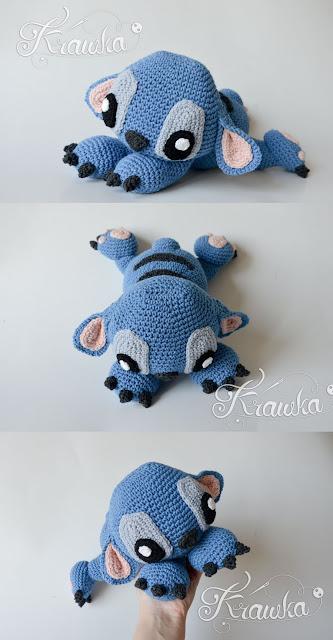 Krawka: Crochet pattern blue koala alien monster Lilo and Stitch cute amigurumi pattern by Krawka