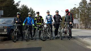 Старт велосипедистов на США