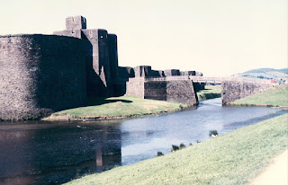 caerphilly castle, moat