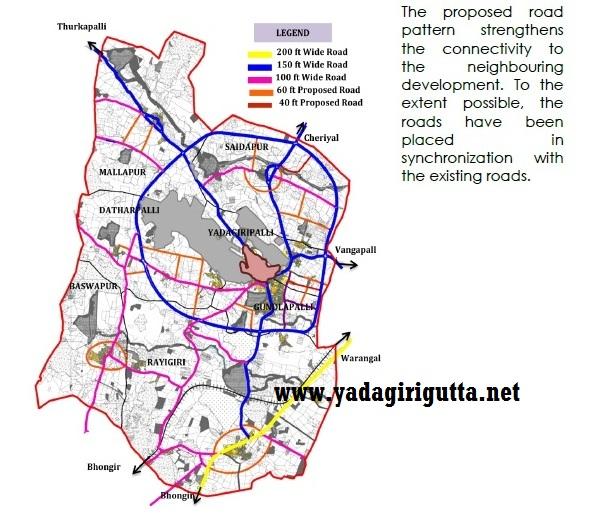 YADAGIRIGUTTA - యాదగిరిగుట్ట: YTDA Yadadri Master Plan 2017