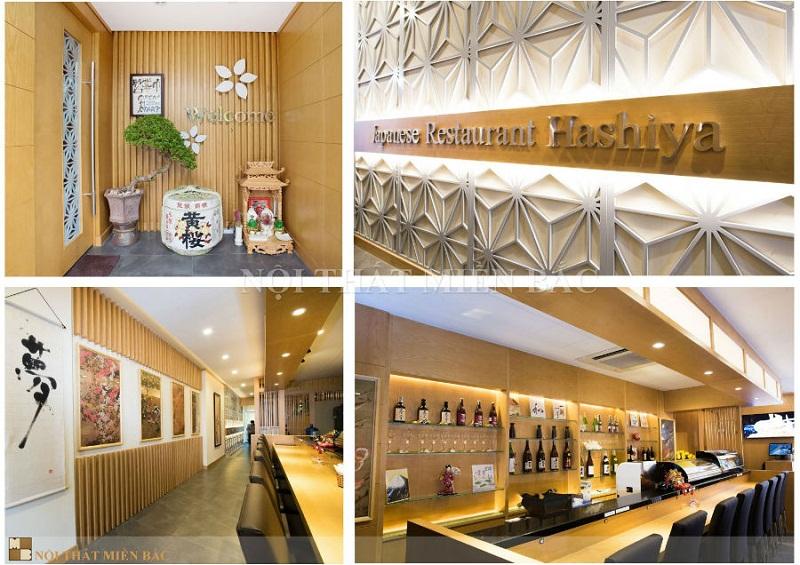 Thi công nhà hàng Nhật hiện đại ấn tượng
