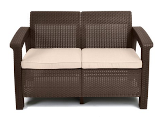 Keter Corfu Brown Love Seat