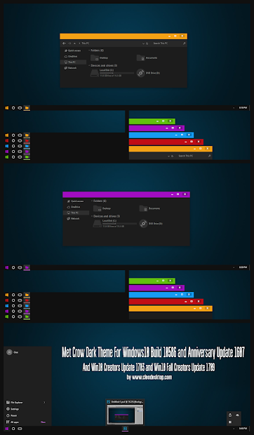 Dark Blue Alpha Theme Windows10 Anniversary Update - Year of