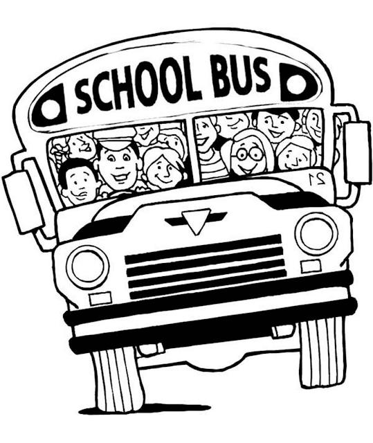 Gambar Mewarnai Bus Sekolah - 6