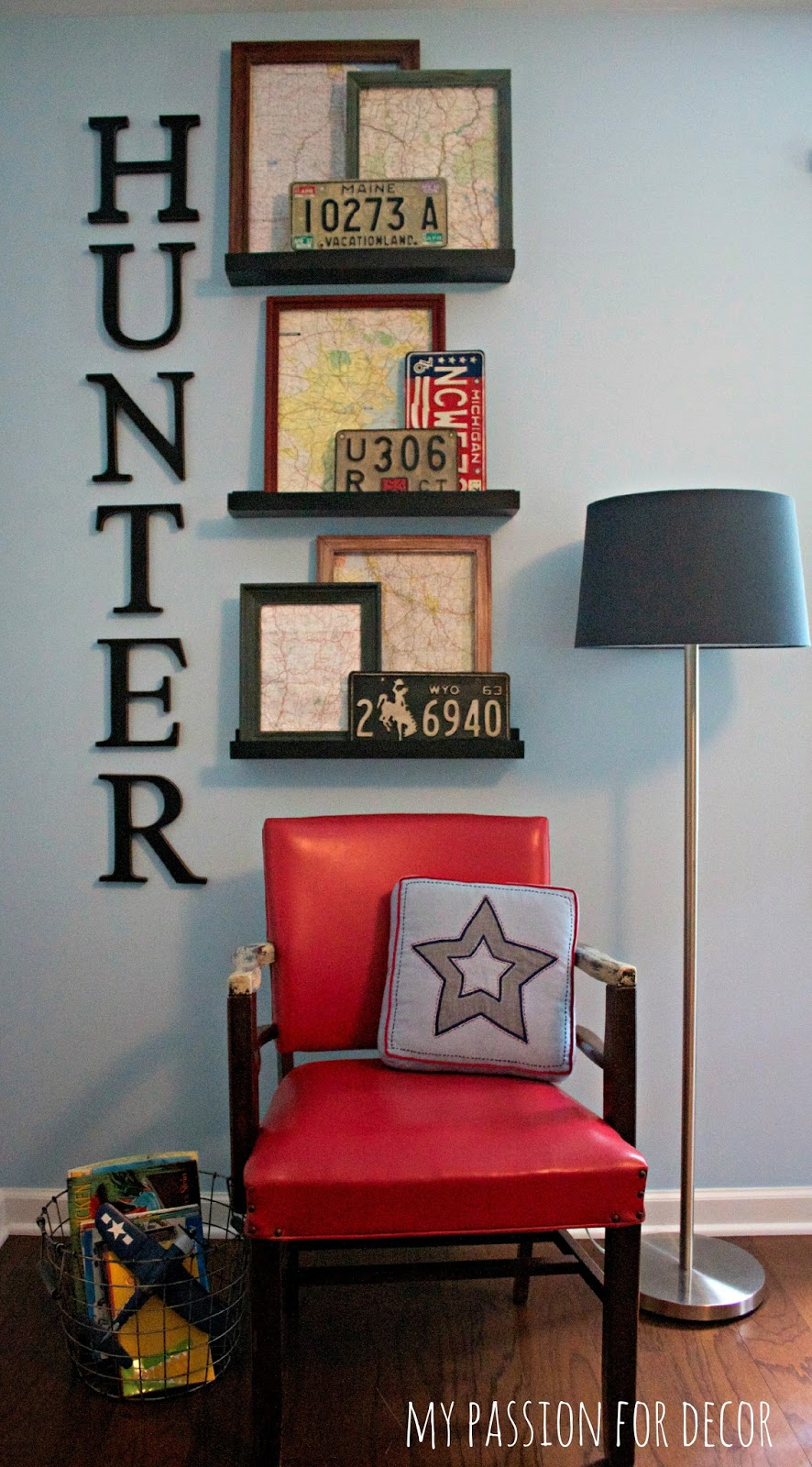 My Passion For Decor: Inexpensive Art For Hunter's Room