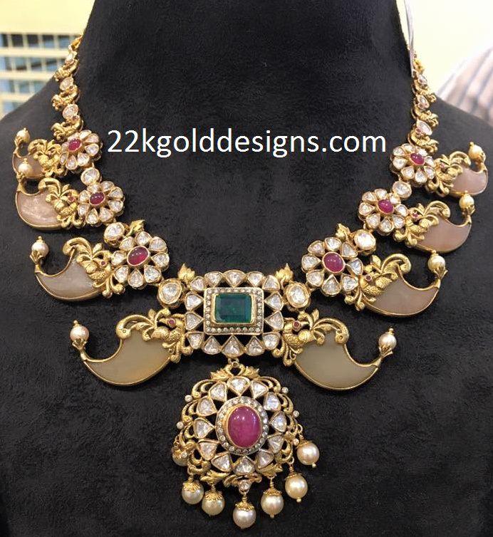 Polki Diamonds Puligoru Necklace