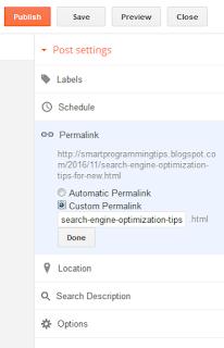 Use keyword in URL