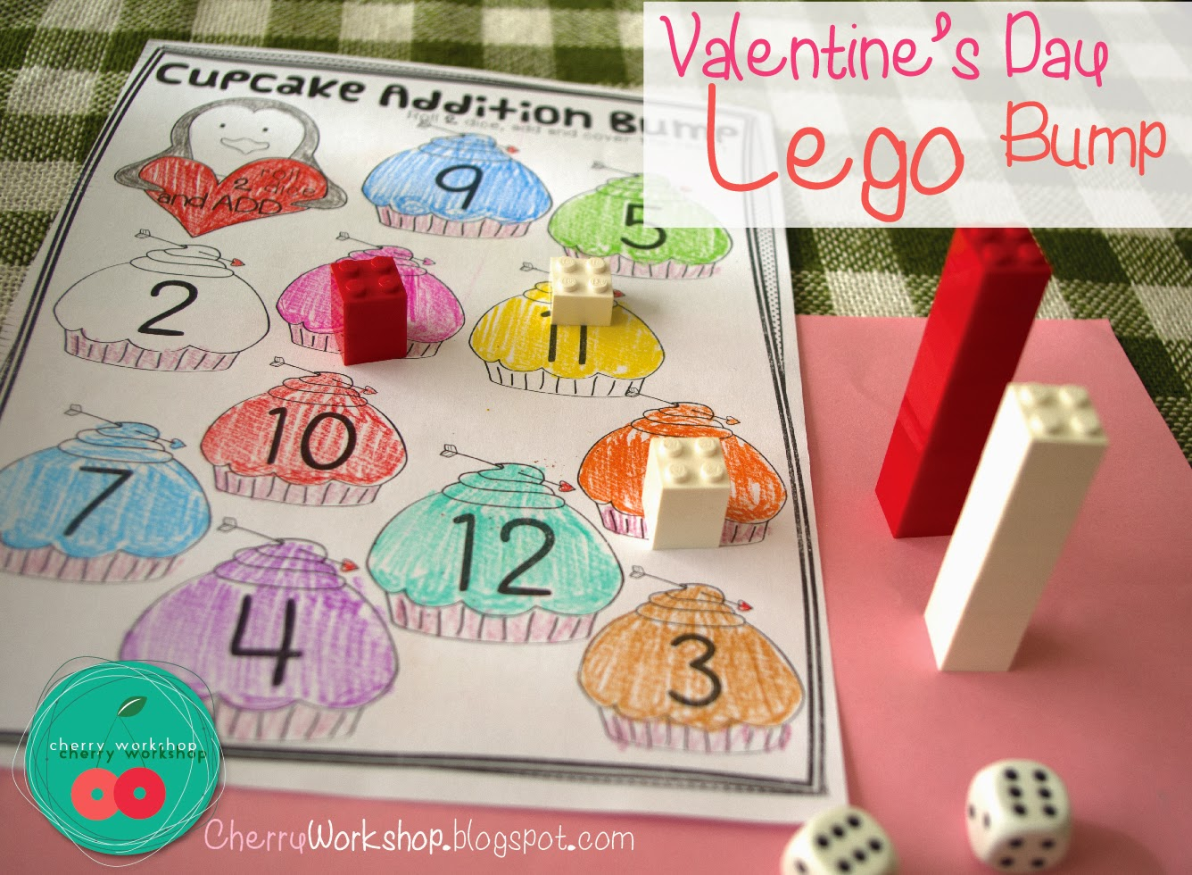Lego Bump Games for Valentine's Day {Cherry Workshop}