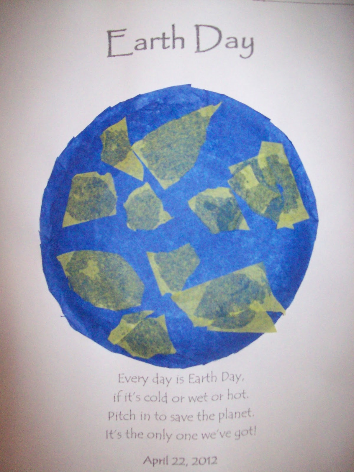 Teaching With Terhune Earth Day