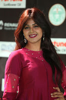 Monal Gajjar in Maroon Gown Stunning Cute Beauty at IIFA Utsavam Awards 2017 048.JPG