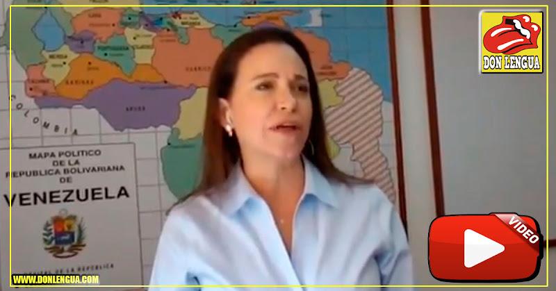 """Maria Corina sospecha que aparezcan justo ahora los """"diálogos"""" inútiles con el régimen"""