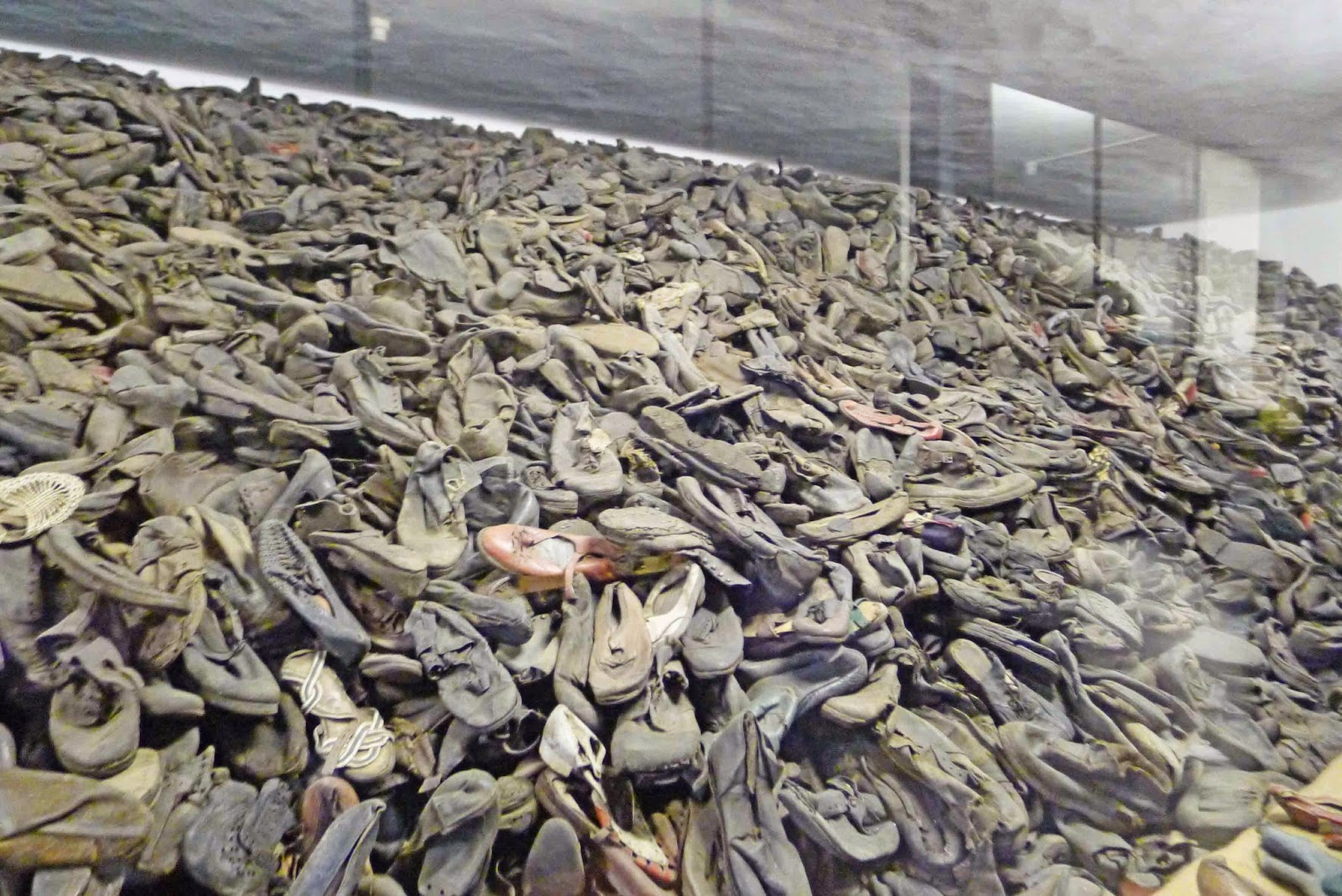Auschwitz Piles of Shoes