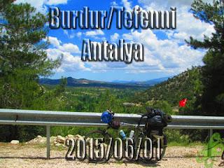 2015/06/01 Buralarda geziyorum bisiklet turu (BGBT) 18. Gün (Burdur/Tefenni - Antalya)