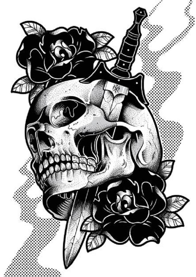 Desenho Para Tattoo Caveiras