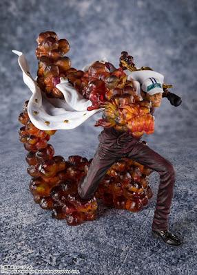 Figuras: Alucinantes figuras de los almirantes Kizaru, Akainu y Aokji de One Piece - Tamashii Nations