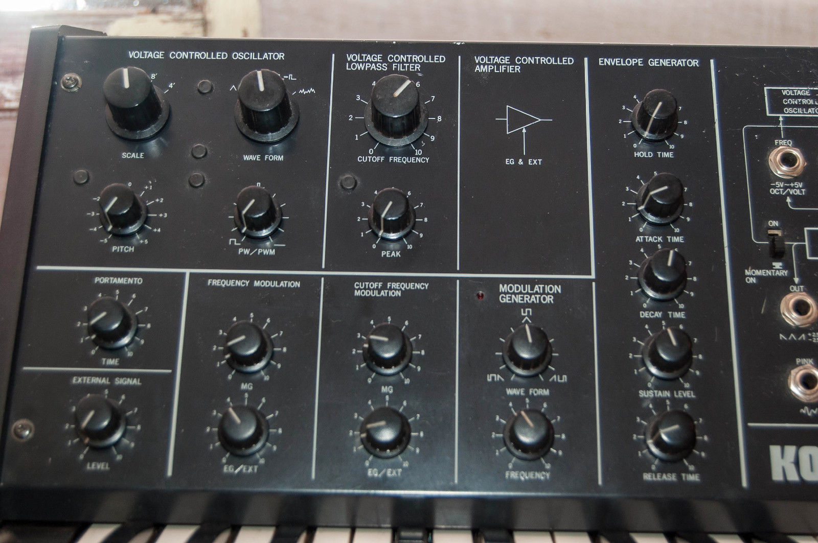 Matrixsynth Modded Korg Ms 10 Vintage Analog Mono Synthesizer Sn 134938 To Stereo The Switch Box Has Momentary And On Off Capabilities Synth Been Scaled Calibrated Recently All Functions Work 100