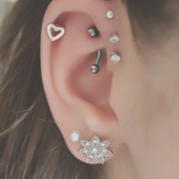 Lovely Ear Piercings For Women
