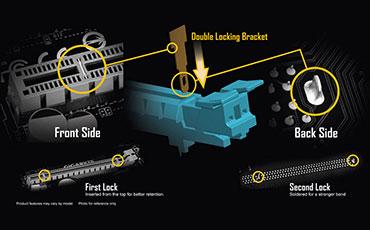 Khung khóa đôi của gigabyte, bo mạch chủ, mainboard gigabyte, GA-Z370M-DS3h