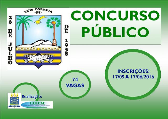 Copese divulga resultado da prova escrita do concurso da Prefeitura de Luis Correia/PI