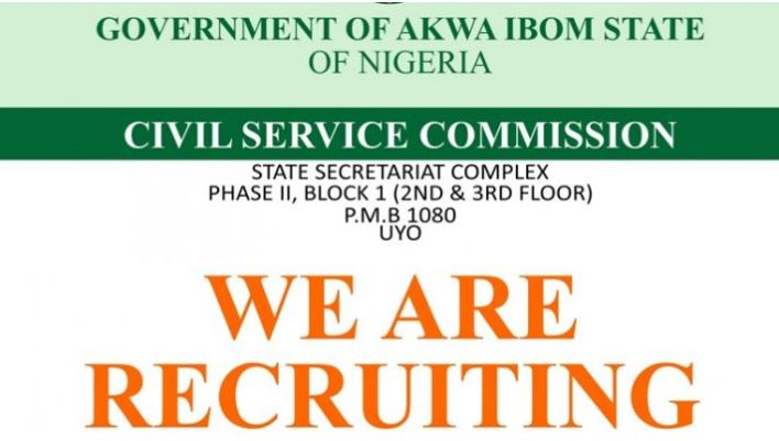 Akwa Ibom State Civil Service Commission Recruitment 2018/2019 Form  20 Positions to Apply
