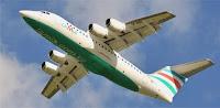 Avião AVRO RJ 85, quadrimotor, BAe 146 da Lamia