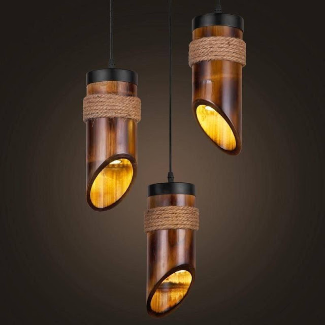 Luminária Artesanal de Bambu
