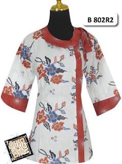 Desain Terbaru Baju Batik wanita Atasan