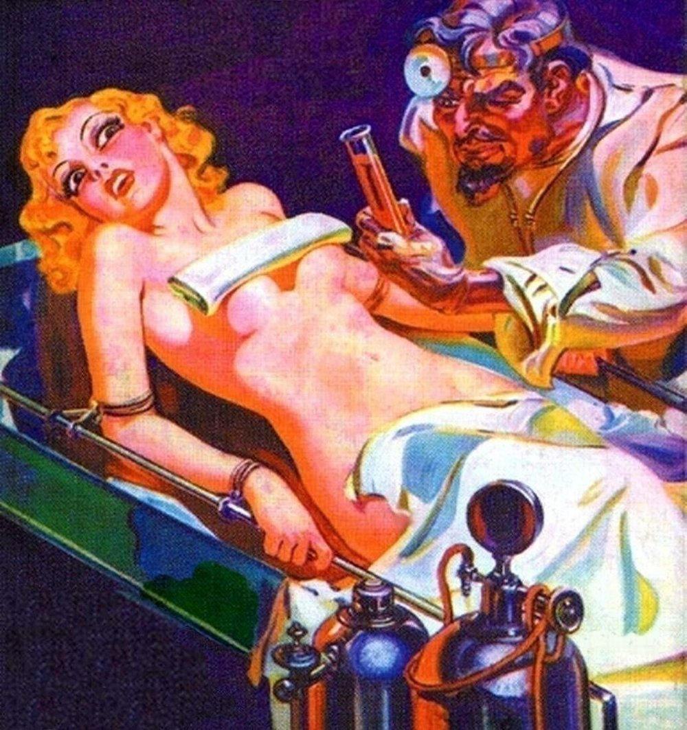 Mad scientist science fiction women naked